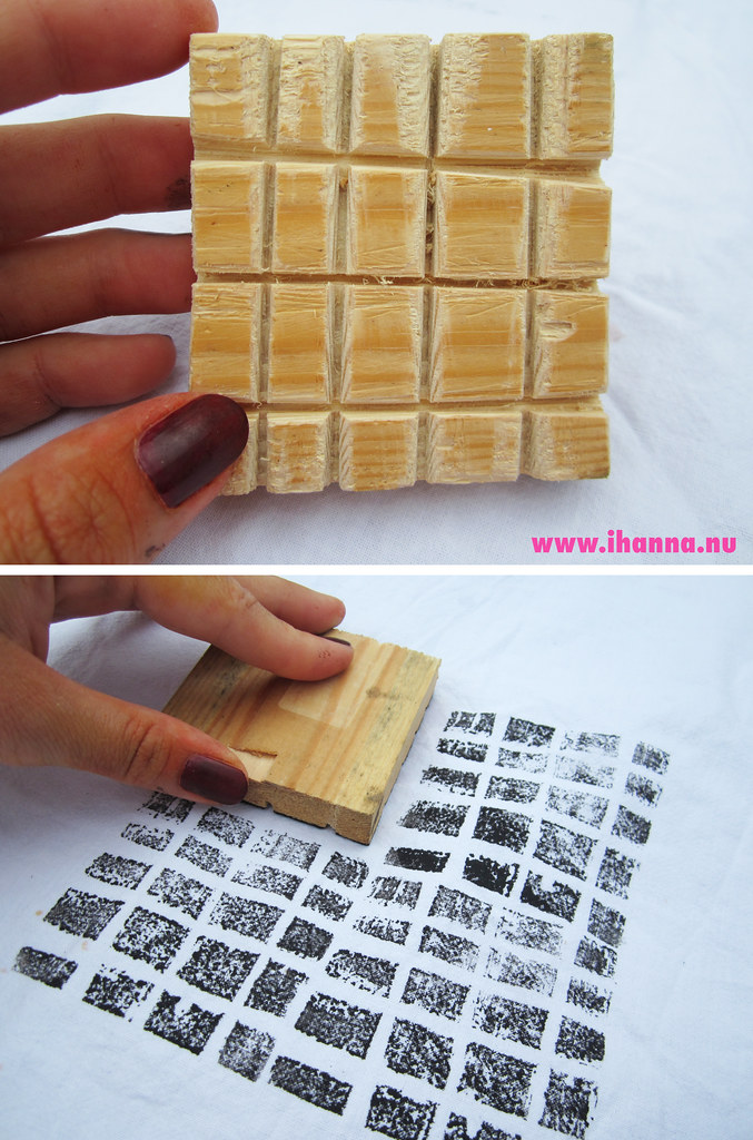 Handmade wood stamp