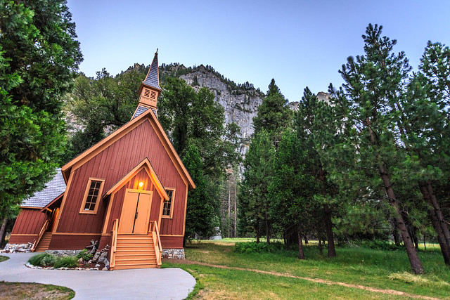 Yosemite Church at Dusk