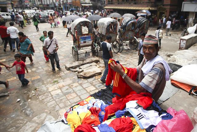 Football jerseys in Kathmandu
