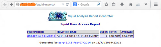How to analyze Squid logs with SARG log analyzer on CentOS
