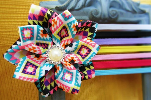 Ribbon Flower hair accessories and pins