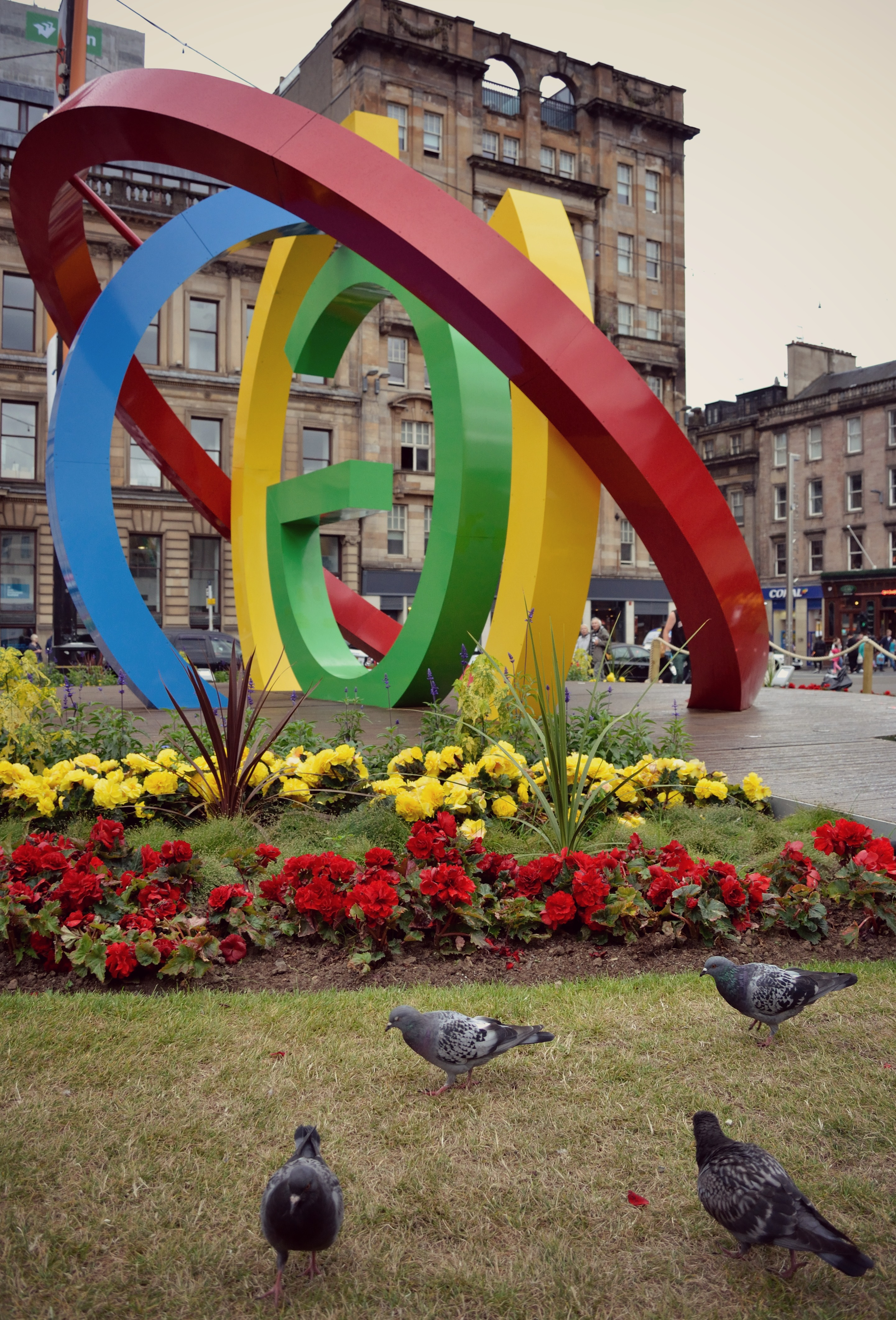 Glasgow Commonwealth Sculpture in George Square.