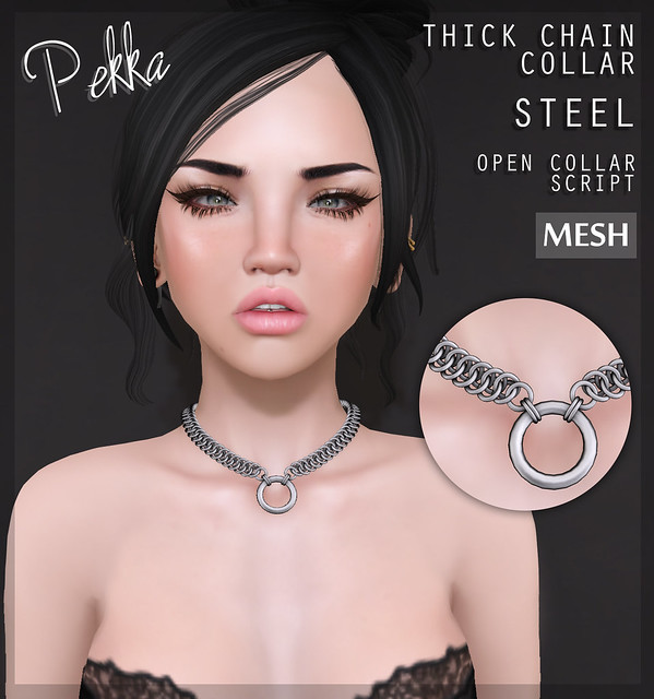 Thick chain collar steel