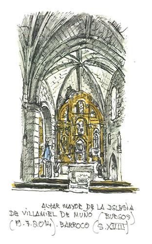 Villamiel de Muñó (Burgos). Iglesia. Altar Mayor