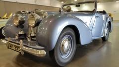 rolls-royce phantom iii(0.0), rolls-royce silver dawn(0.0), touring car(0.0), sports car(0.0), automobile(1.0), triumph roadster(1.0), vehicle(1.0), automotive design(1.0), bugatti type 57(1.0), antique car(1.0), vintage car(1.0), land vehicle(1.0), luxury vehicle(1.0), convertible(1.0), motor vehicle(1.0), classic(1.0),