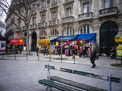 Plaza near fontaine Saint-Michel