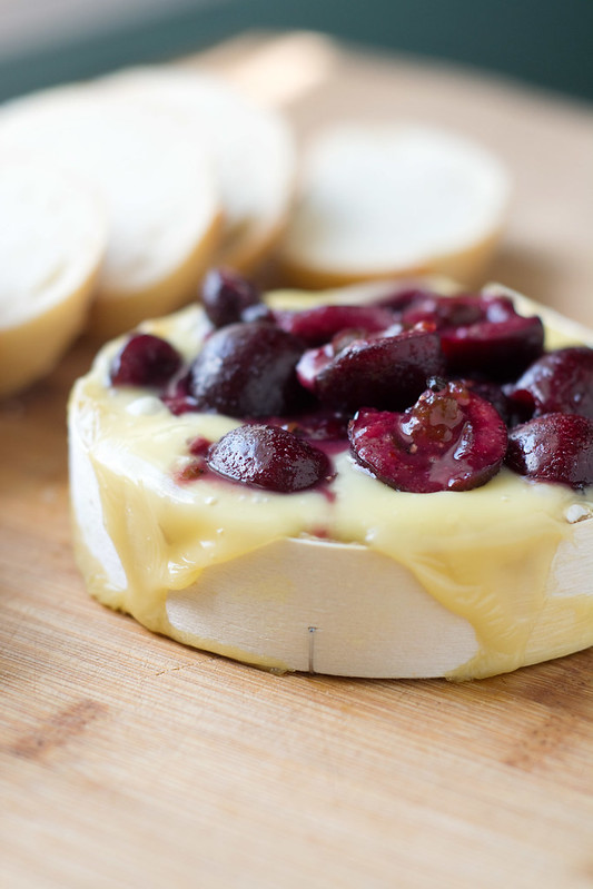 Sweet and Spicy Baked Brie with Cherries