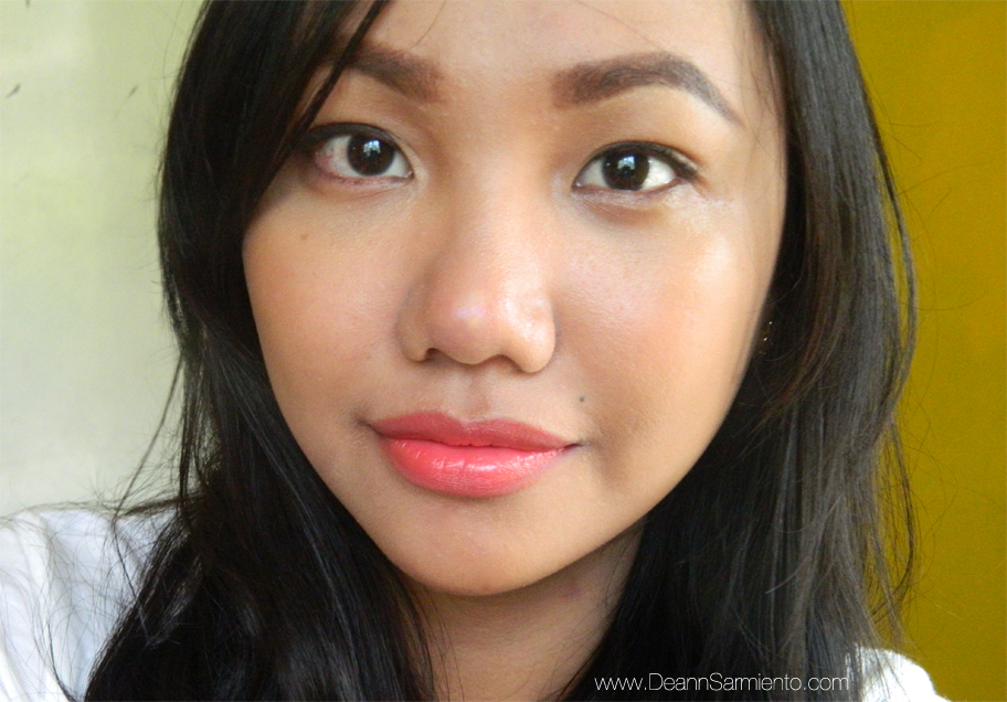 Red Apple Lipstick Review in Coral Rush