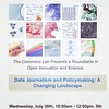 In DC next week? Stop by the Wilson Center: http://www.wilsoncenter.org/event/data-journalism-and-policymaking-changing-landscape for talks on data journalism: http://towcenter.org/art-science-data-driven-journalism/  The event is free and will be webcast