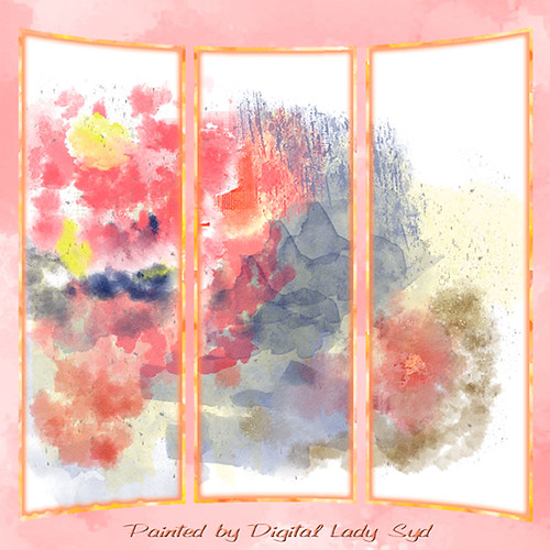 Image of triptych showing my new brushes strokes