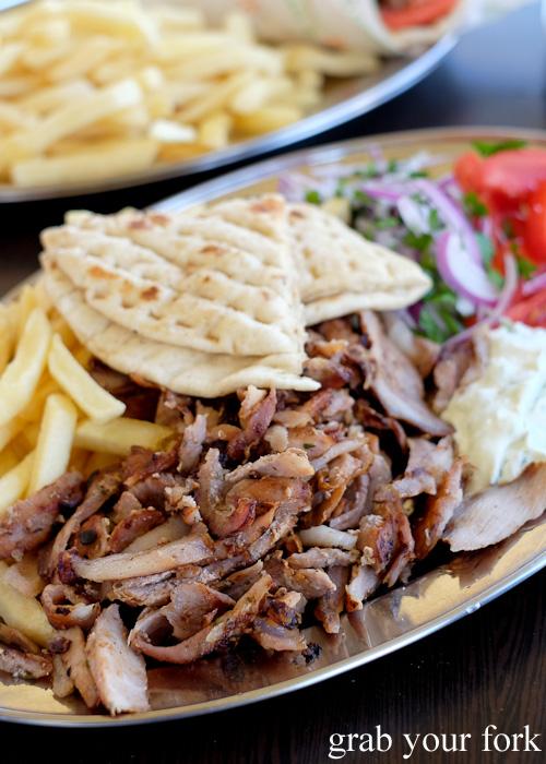 Gyros pork merides at Traditional Gyradiko, Bexley