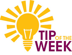 TIP OF THE WEEK - white background
