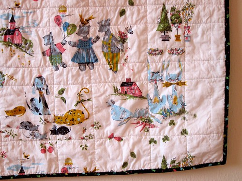 backing fabric, one-patch baby quilt