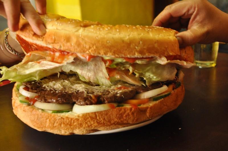 Extra-Large Burger