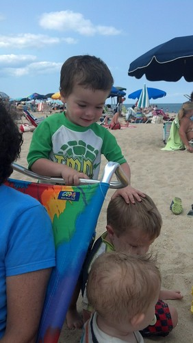 Bethany Beach - July 30th - Smiling Sagan with Hayden and Dyson