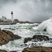 Ocean Storm at Portland Head by BenjaminMWilliamson