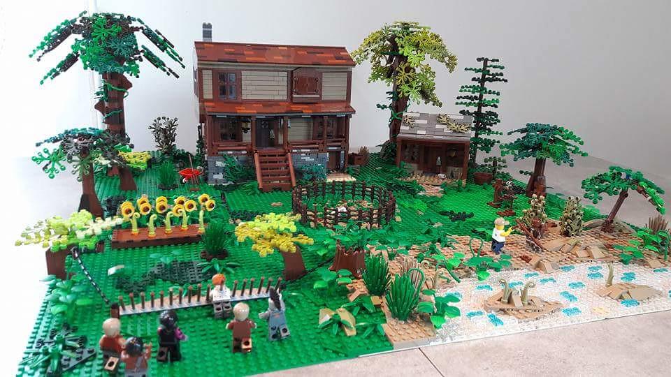 Eastman, Morgan and friends (custom built Lego model)