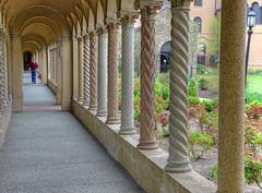 Corridor next to the garden, Fransican monastery