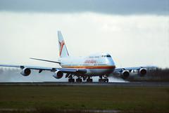Surinam 747 rolling in rain