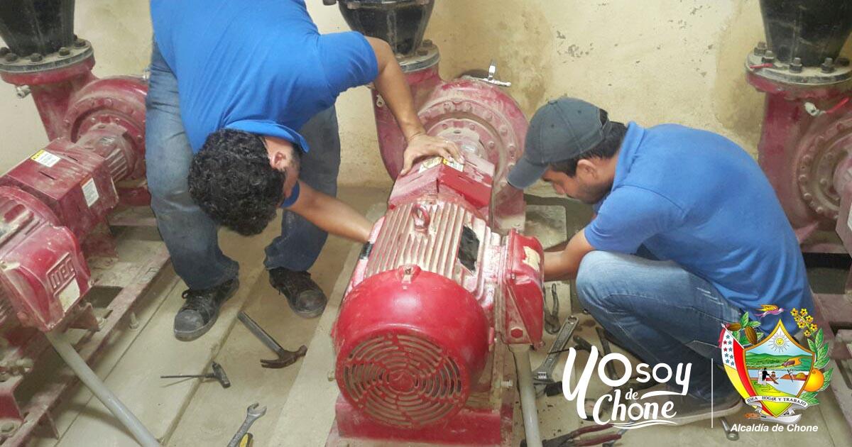 Bomba de impulsión de agua cruda fue reparada y brinda servicio