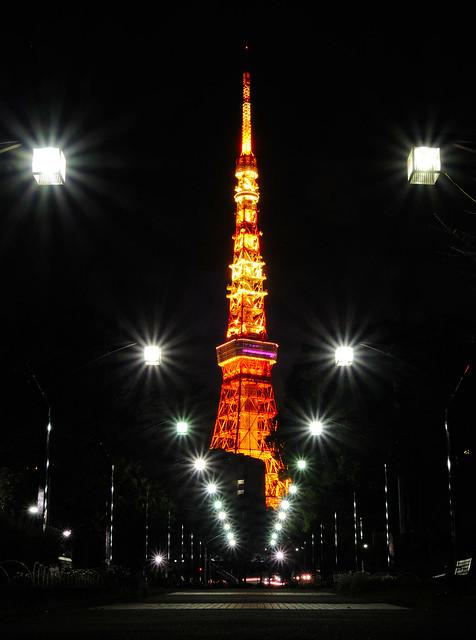 Tokyo Tower Night View, Nikon COOLPIX P330