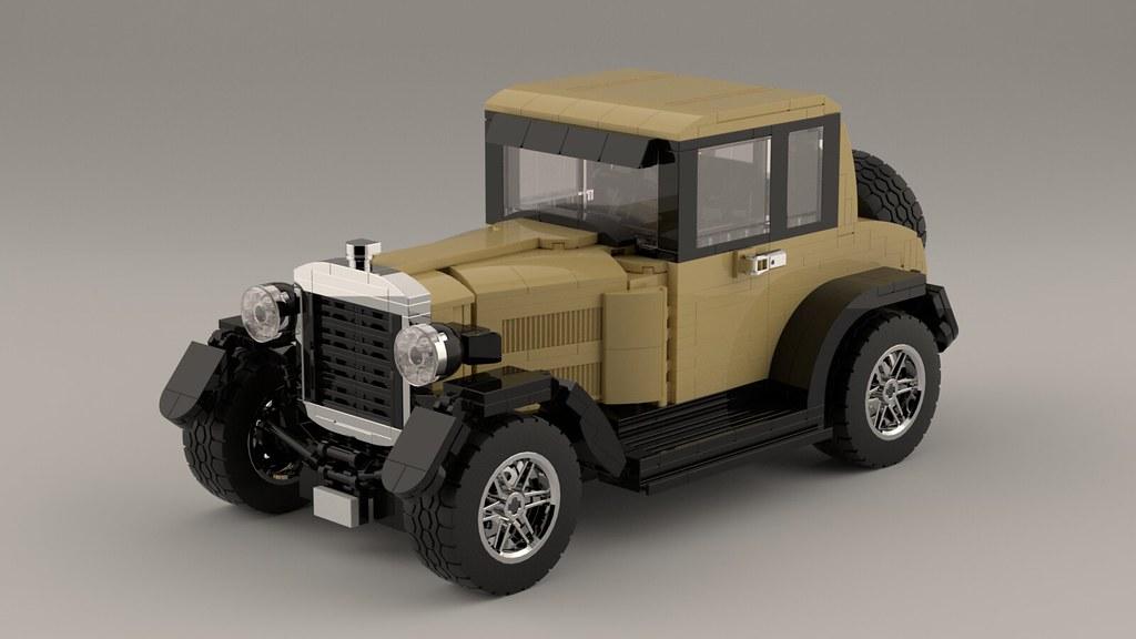 Ford Model T 1927 (re-rendered) (custom built Lego model)