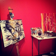putting in work at the new #art #studio