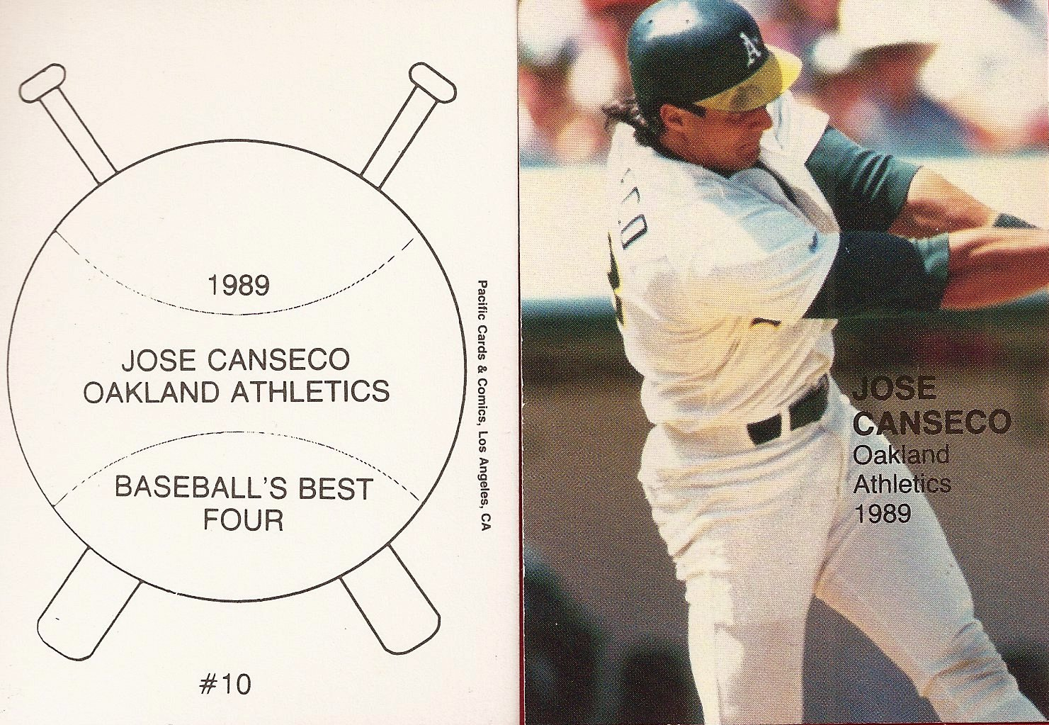 1989 Pacific Cards & Comics Baseballs Best Four