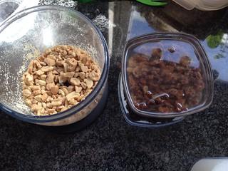 Variant met noten en rozijnen