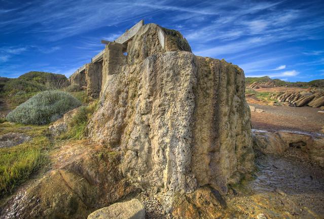 The fossilised water wheel , Augusta , Western Australia
