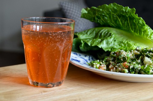 Strawberry Shrub in Tonic Water