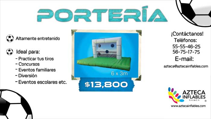 porteria inflable