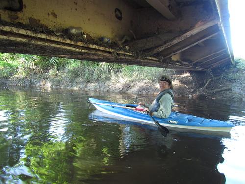 Mike under the bridge.  (Note the bridge.)
