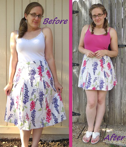 Larkspur Skirt - Before & After