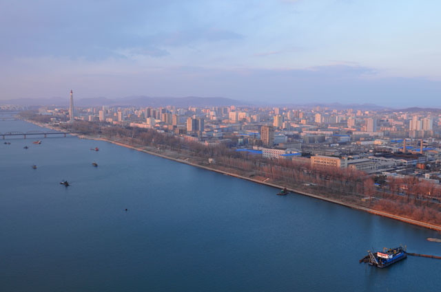 Taedong riverside in Pyongyang