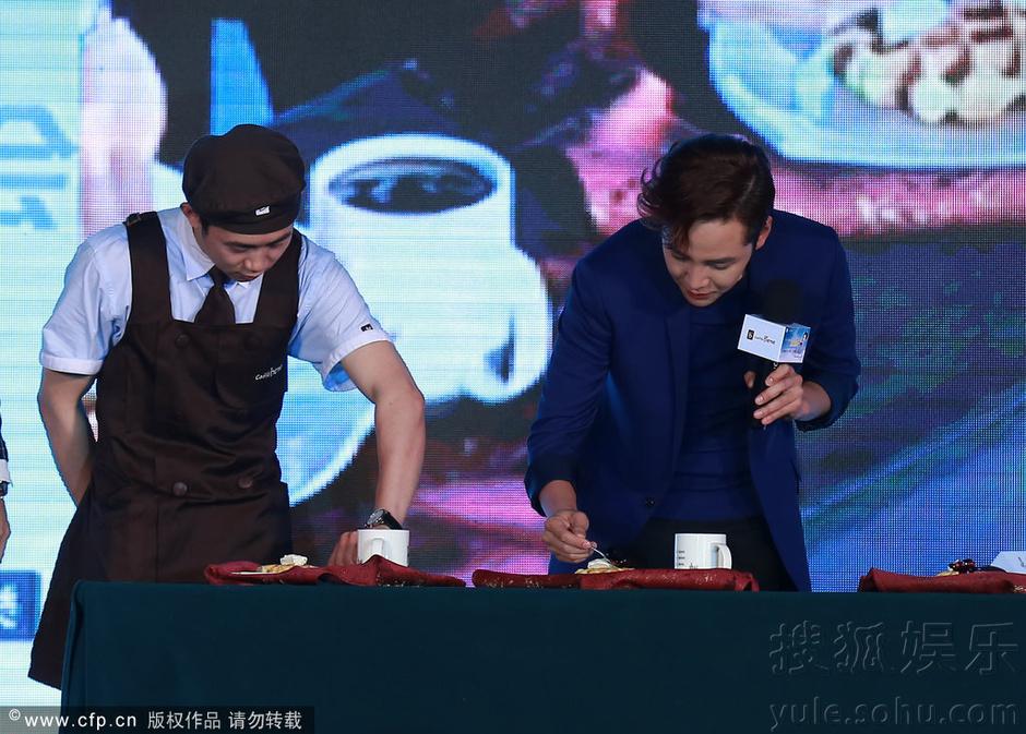 [Pics] Jang Keun Suk Calls For More Charity Work and Be Eco-Friendly At Caffe Bene FM_20140426 14058120785_48b13f20d7_o