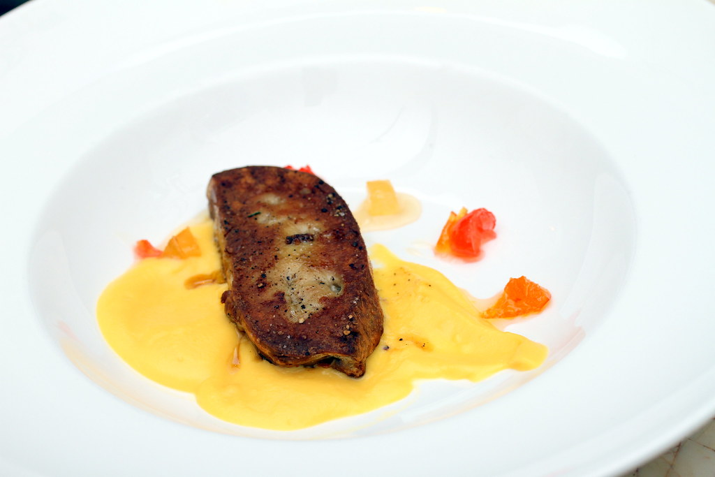 in ITALY Bar Ristorante: Ficato Di Sette Cannola (seared Foie Gras with sweet n sour pumpkin sauce)