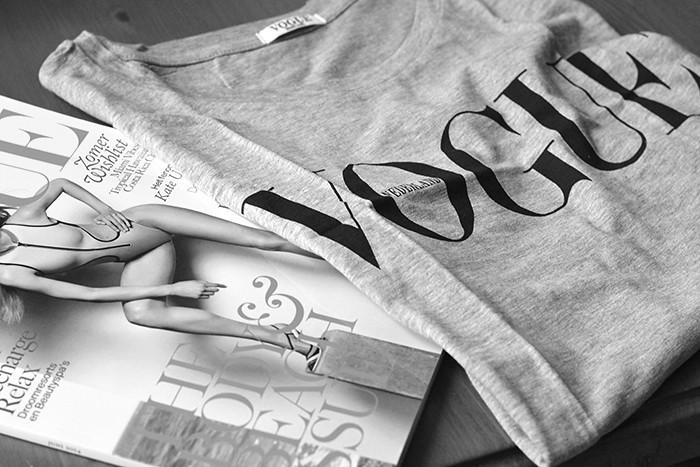 Magazines and shirt