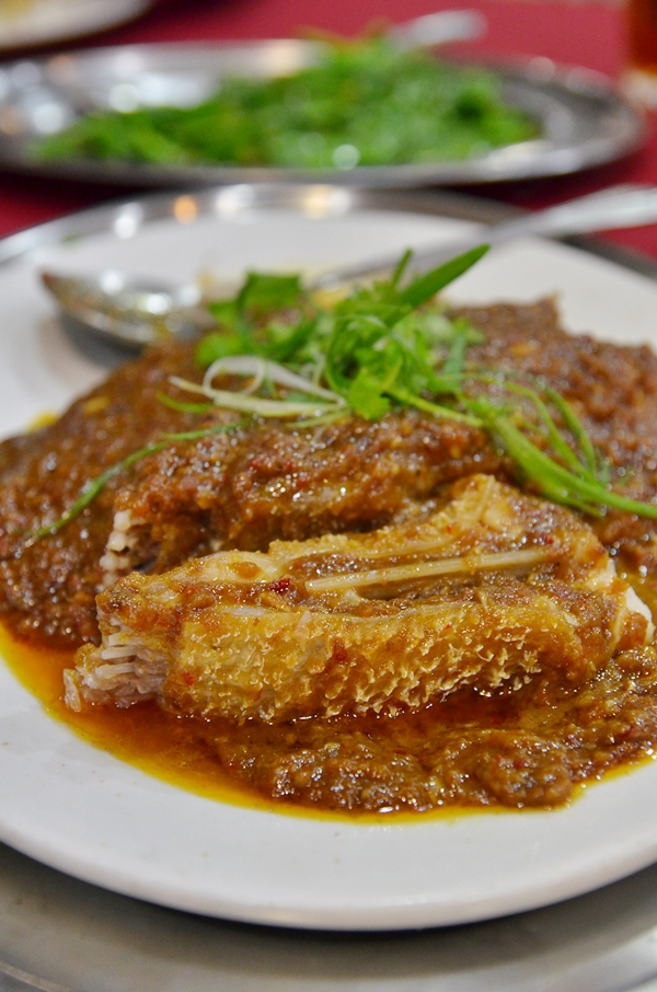 Steamed Saito Fish Belly w Spicy Bean Sauce