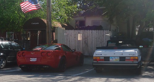 chevy corvette z06 c6 and saab 900s convertible take your pick