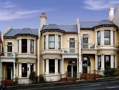 Dunedin. Early homes. Stuart St.