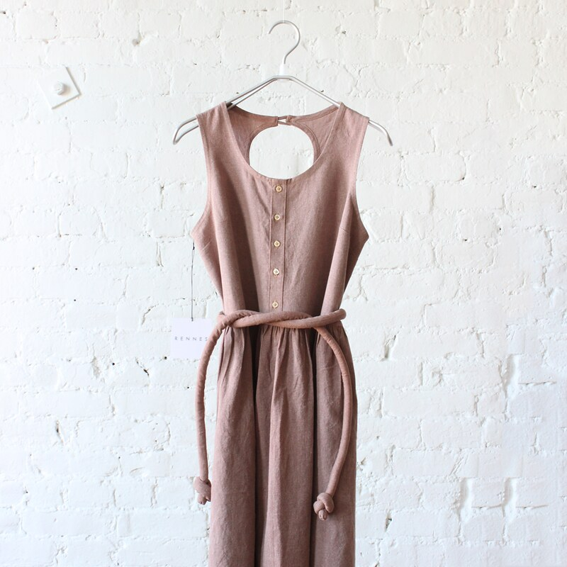shoreline dress , terracotta linen/cotton