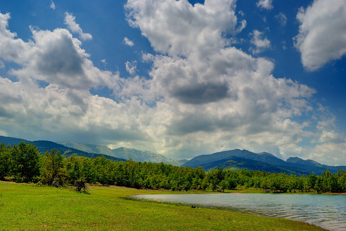 lake nature water clouds spring greece thessaly karditsa lakeplastira