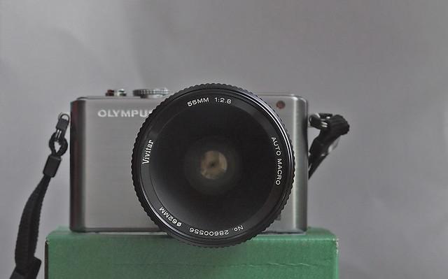 PL3+Vivitar 55mm. F2.8 Selfie