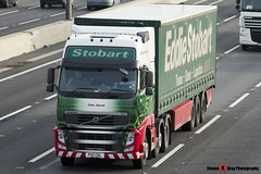 Volvo FH 6x2 Tractor with 3 Axle Curtainside Trailer - PX11 CKL - H4799 - Lisa Jayne - Eddie Stobart - M1 J10 Luton - Steven Gray - IMG_4565
