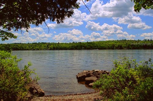 summer lake water clouds nikon maine