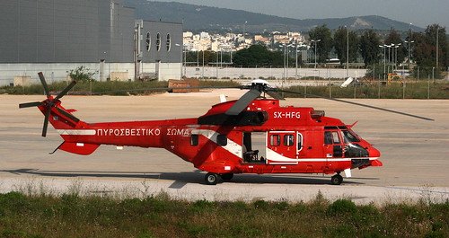 SX-HFG Hellenic Fire Service / Πυροσβεστικό Σώμα AS-332L1 Super Puma @ Athens airport