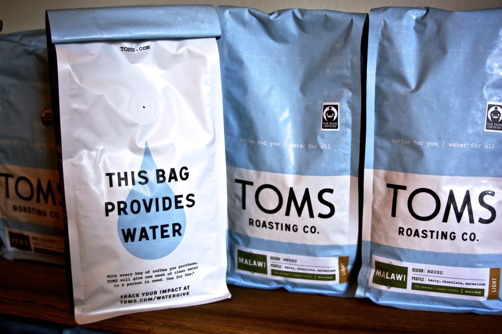 Bag of TOMS coffee