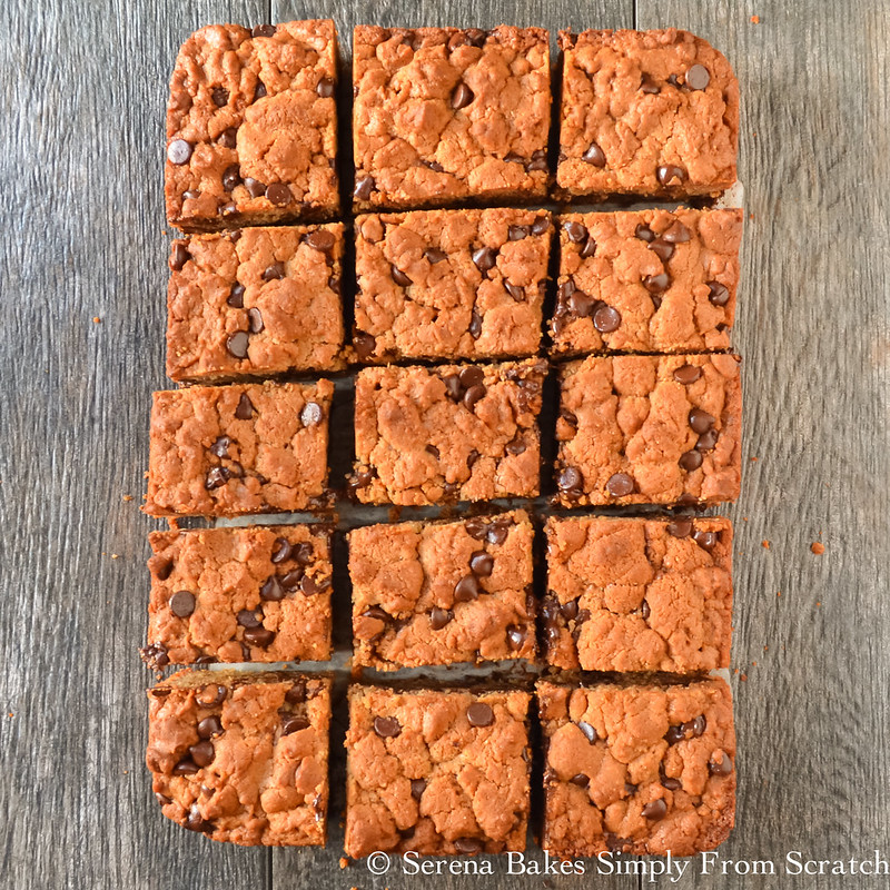 Peanut Butter Blondies are taste a bit like a peanut butter cup in a cookie.