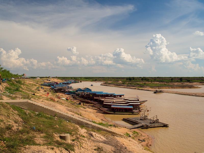 Boats in dry season